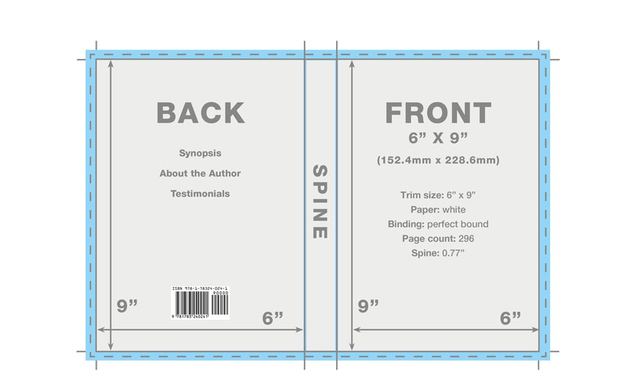 Book Back Cover Template : Book cover template templates designs for